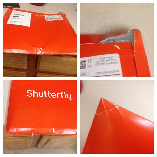 Shutterfly On Twitter Danquid Ouch Rough Ride For Our Orange Package Please Contact Customer Service If Anything Was Damaged Http T Co Rawdchvwex