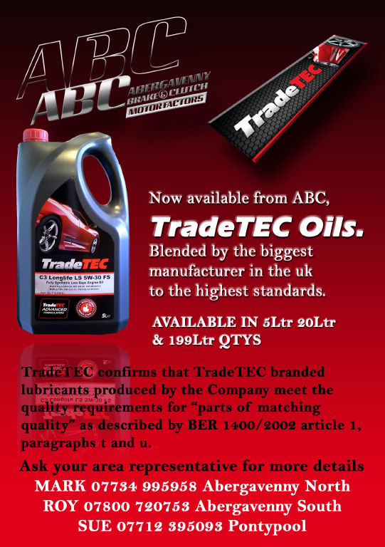 """ABC MOTORFACTORS on Twitter: """"Full Range of Trade-Tec Oil now in stock. Produced by Exxol Lubricants they are made to exacting OEM specifications. ..."""