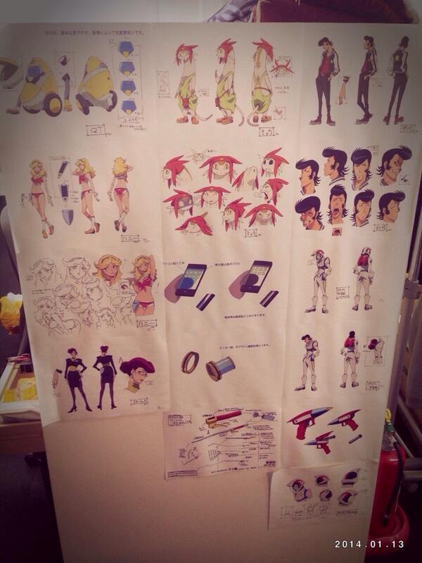 スペース★ダンディのキャラ画が飾られておりました((((;゚Д゚)))))))すごいですよぉ〜 #bones  #s_dandy  #uki