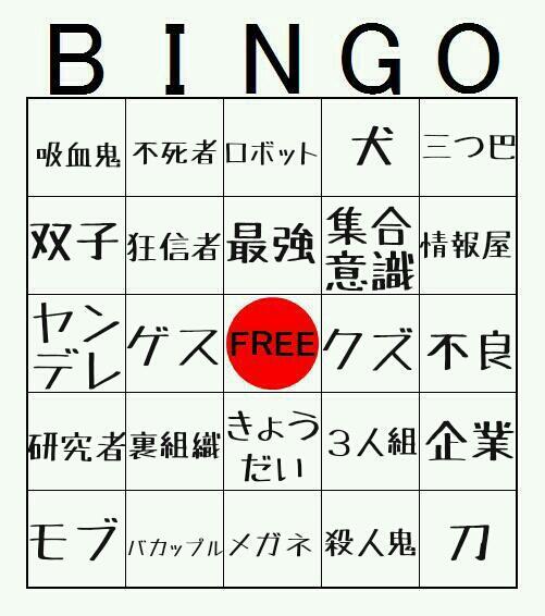 成田キャラの特徴ビンゴ。好きな成田キャラに当てはまる特徴があったら⭕をつけよう! #成田ビンゴ http://t.co/gihttTnAkK