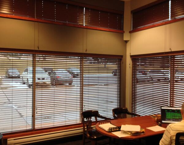 Budget Blinds Omaha On Twitter Hunt Transportation Chose Signature Series Faux Wood To Cover The Windows And Transom Above