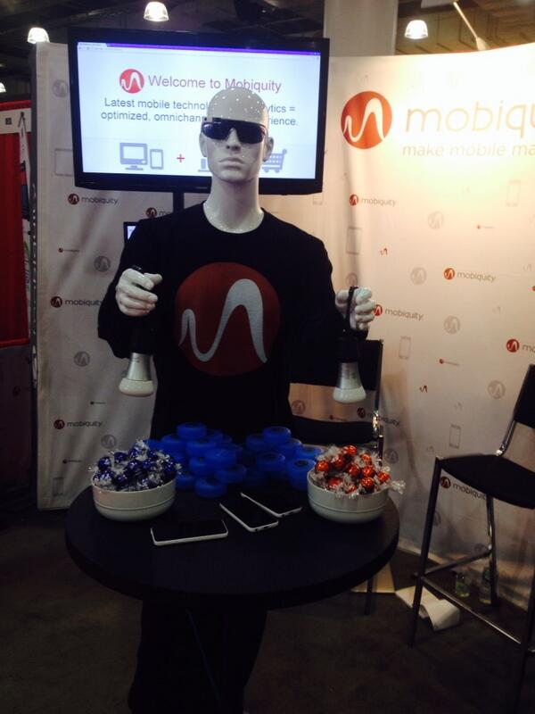 Mobiquity #iBeacon demo guy knows yer fave chocolate + color + whether u can afford that Coach bag.@#nrf14. http://t.co/Jay0XAH1VH