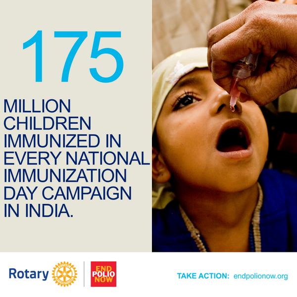 Thanks to millions of vaccinators and millions of #vaccines, #India is polio-free. Now let's #endpolio everywhere. http://t.co/iOKfSKgWm9