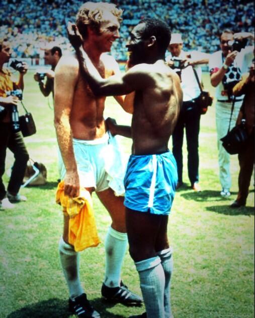 RT @BehindTheStrike: @Pele and Bobby Moore #legends #winners #WorldCup #BallondOr #BallondOr2013 http://t.co/OMb1O95qo4