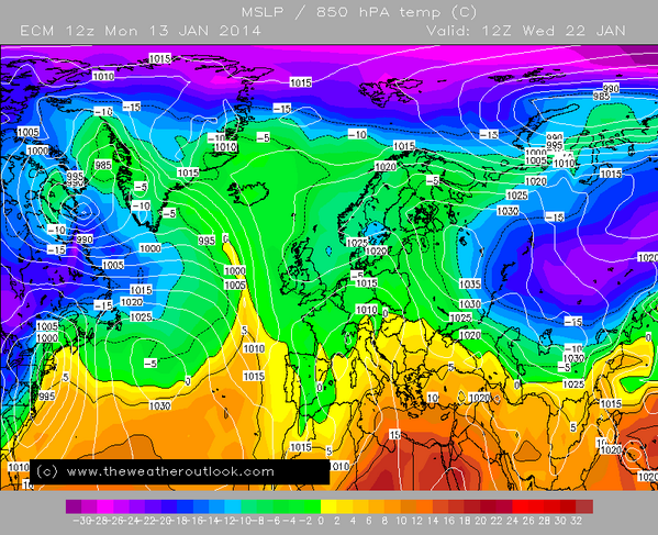 ECM12z cold enough for widespread snow across the UK next week. http://t.co/MmKPcVbHXh http://t.co/flqTIbxCeI