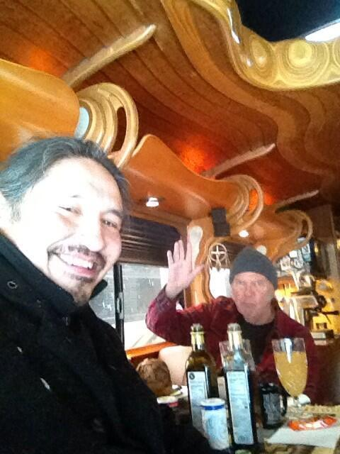 bill brasky on twitter neil young enjoying his luxury tour bus while en route to winnipeg on. Black Bedroom Furniture Sets. Home Design Ideas