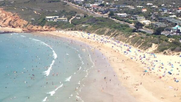 Plenty are escaping the heat at Anglesea already. Don't risk it- only swim at a patrolled beach #melbourne #heatwave http://t.co/JK6szbrwGd