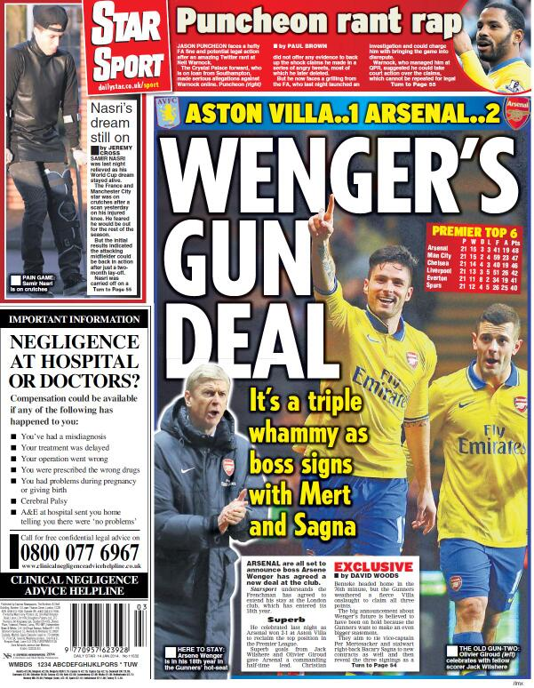 Arsenal boss Arsene Wenger signs new contract, along with Per Mertesacker & Bacary Sagna [Star]