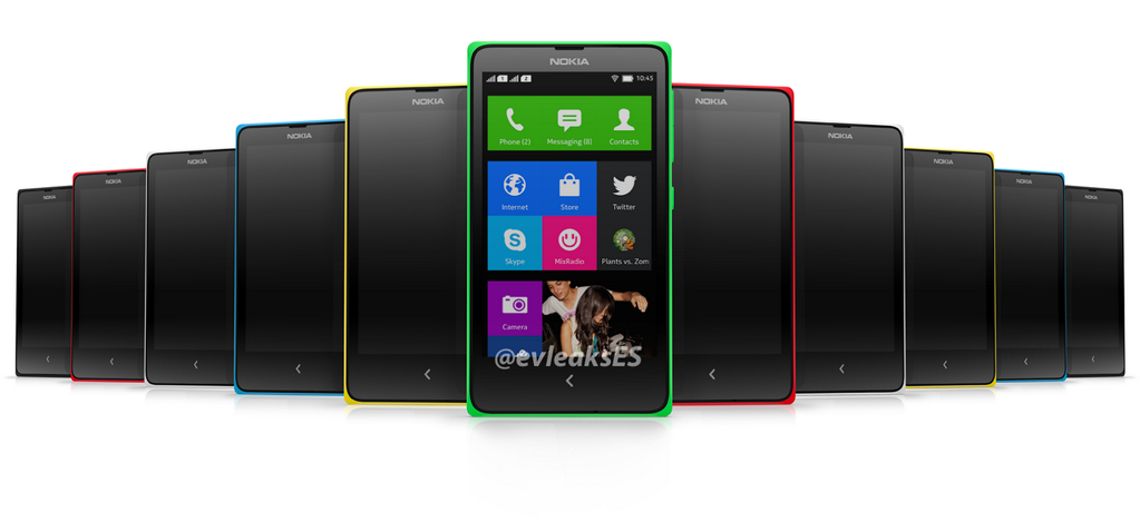 Tampilan fisik Nokia Android