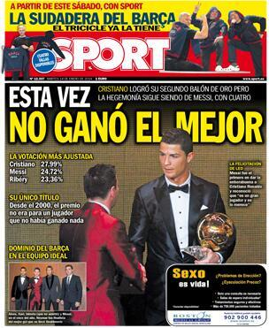 Real Madrid News Now, Newspapers Catalonia reduce the achievement Cristiano and Headlines: this time not won by the best