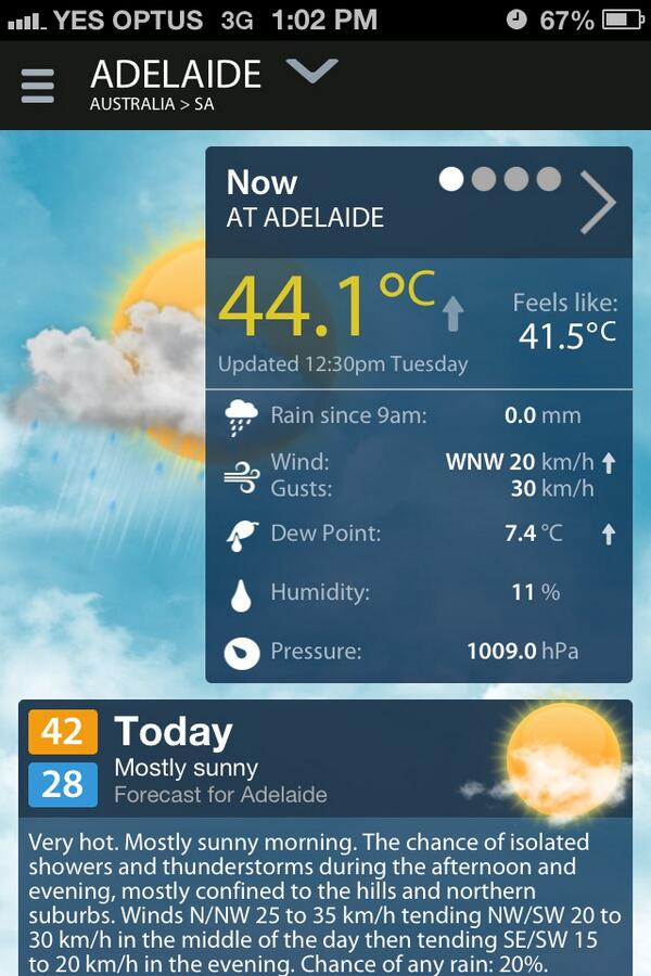 I chose the best time of the day to duck out #Adelaide #heatwave http://t.co/LqmWE0LyY0