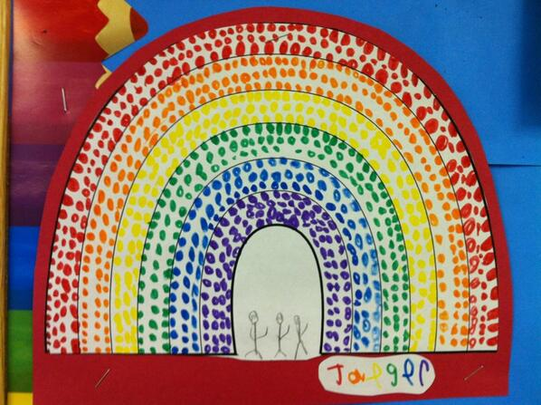 Pointillism Rainbow…one of my top 10 fav projects! #kinderchat http://t.co/qfgv7Ssa59