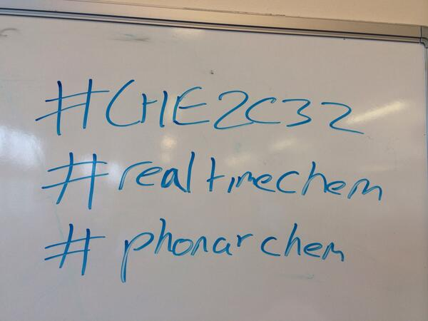 Today's hashtags are #phonarchem #CHE2C32  #realtimechem http://t.co/EVp10c8eSK