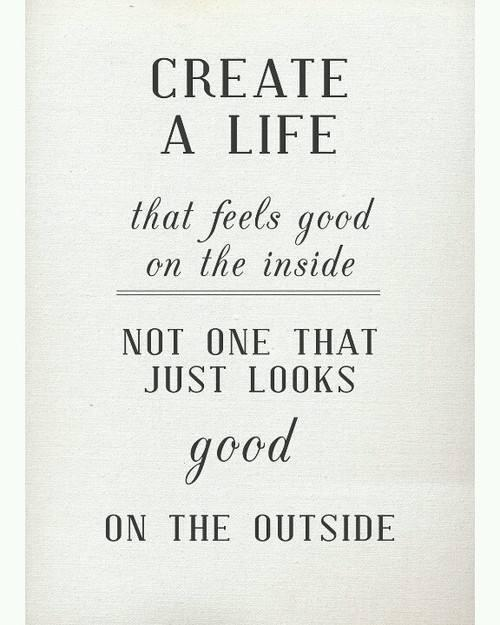 #LoveToday focus on cleaning up  inside of ur life, instead of looking perfect on outside. #UrInsideLifeMattersMost http://t.co/1AwIm8ThY3
