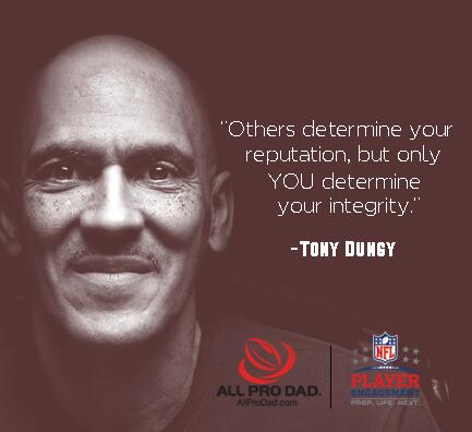 """Others determine your reputation, but only YOU determine your integrity."" - @TonyDungy #TroyandTonyTuesday http://t.co/FQKyStgsvj"