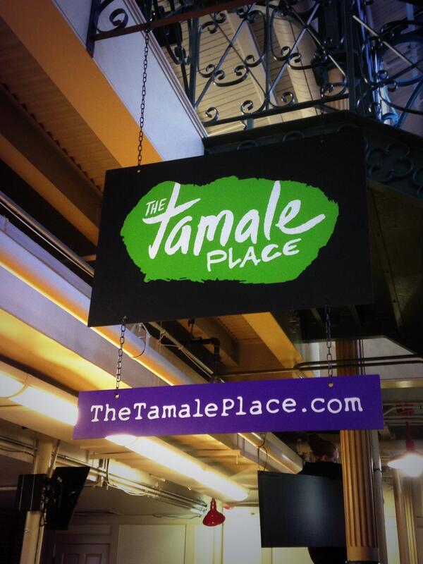 Guess what we're having for lunch! It's starts with Tamale... Ends in Place and is opening TODAY in the Market! http://t.co/oDeXqofXfk