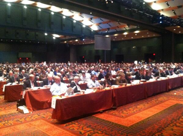 House of Delegates comprised of family farmers & ranchers from 50 states, voting on public policy positions #afbf14 http://t.co/k6lHylvtwp