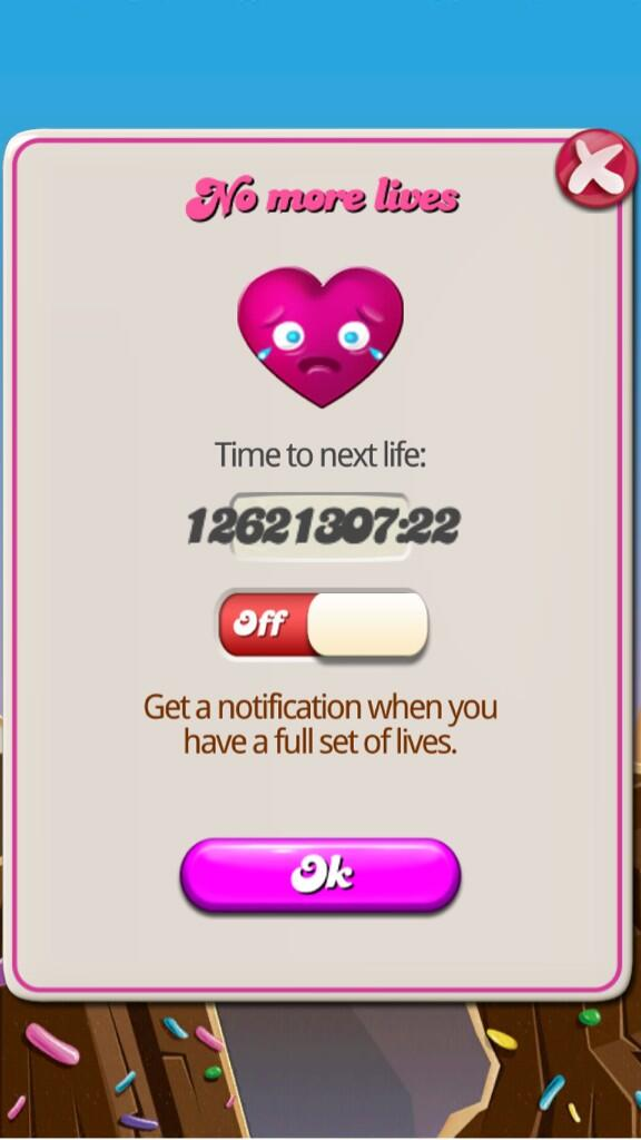 can t play candy crush anymore pic twitter com yj5x1eofye