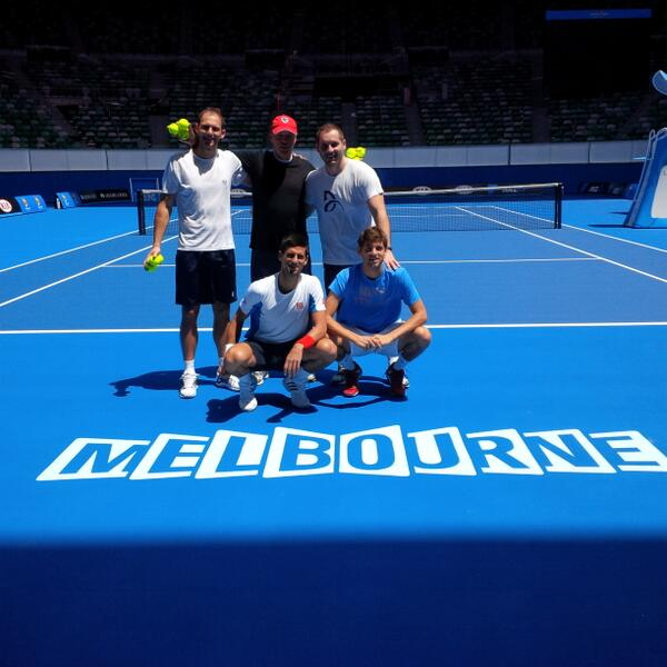 So many great memories from RLA! Fantastic feeling to practice on fresh surface. Love Melbourne. Hitting with Filip K http://t.co/6IlhozuxI6