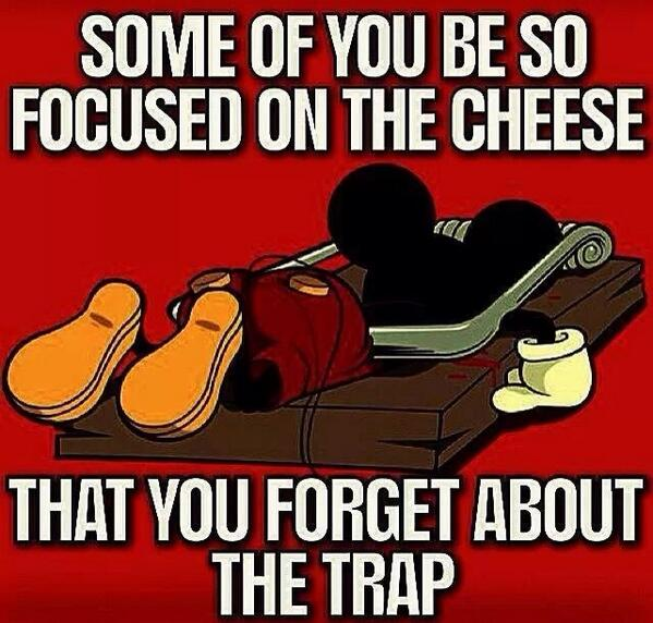cheese in a trap