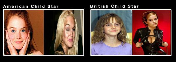 #AmericansvsBritish If I can be a child star, I want to be British http://t.co/W2Xnokk6zn