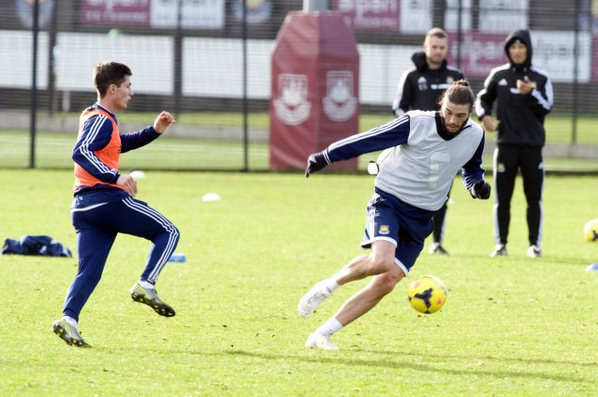 Andy Carroll returns to West Ham first team training for the first time in 8 months [Pictures]
