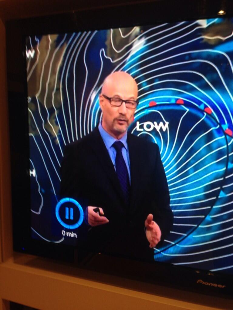 Holy cow. Walter White is doing the weather forecast. http://t.co/rm8VWCJ3na