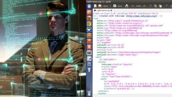 Apparently Dr.Who was into SVG as well: http://t.co/9ddpZYkRD2