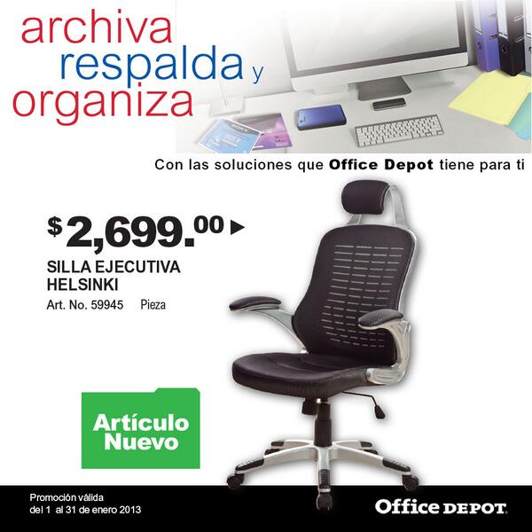 Office depot mexico on twitter silla ejecutiva helsinki for Sillas de oficina precios office depot