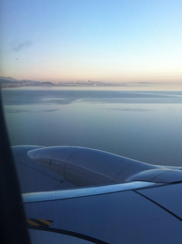 Landing in San Fransisco...very ready to disappear into the recording void with my fellas.