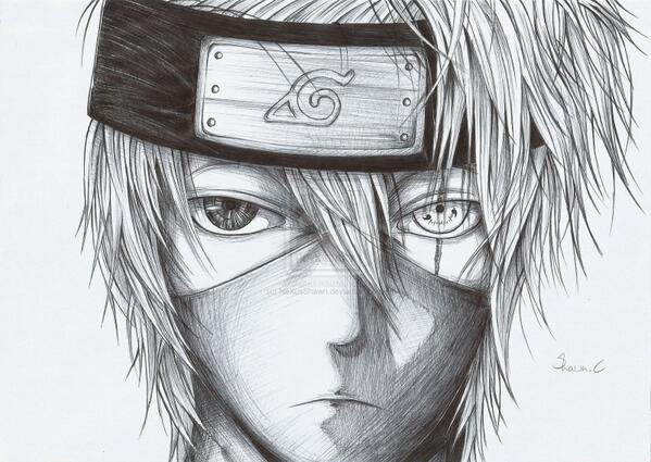 Anime drawings on twitter kid kakashi drawing anime naruto kakashi drawing http t co mbcj8r6sqs