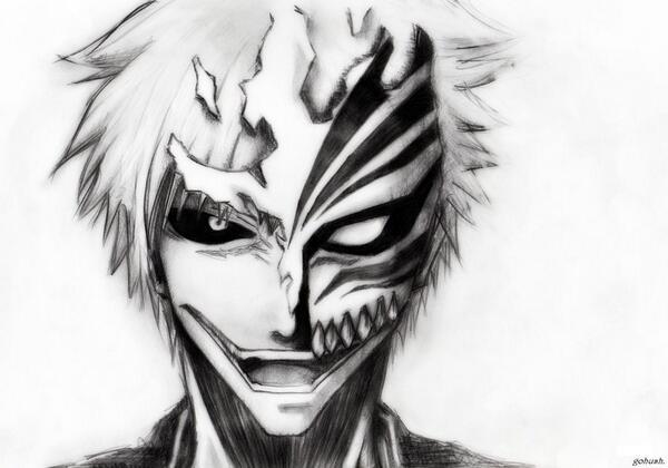 "Anime Drawings On Twitter: ""bleach Ichigo Drawing #Bleach"