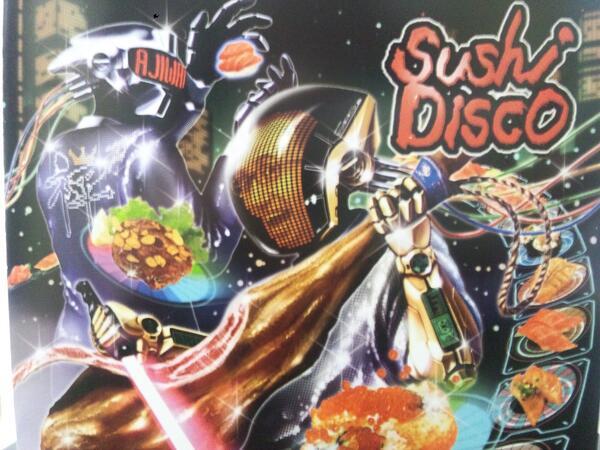 Sushi Disco 大トロ価格でレーンの上を絶賛回転中です( ̄∇ ̄*)ゞ http://t.co/SUrxPhZkRd