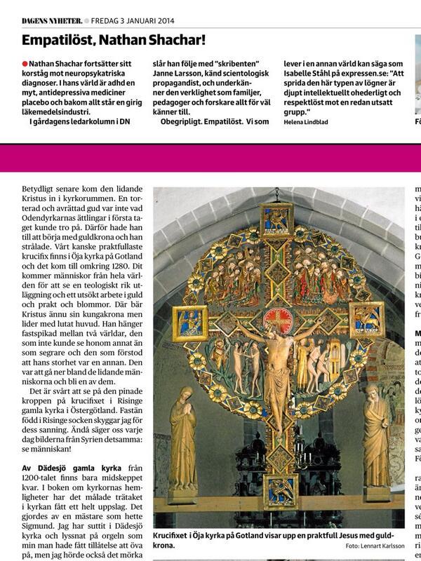 Upptäckte först nu @helenalindblad's brutalt välformulerade protest mot den egna tidningen igår, vilket civilkurage! http://t.co/PkZrOgsFBc