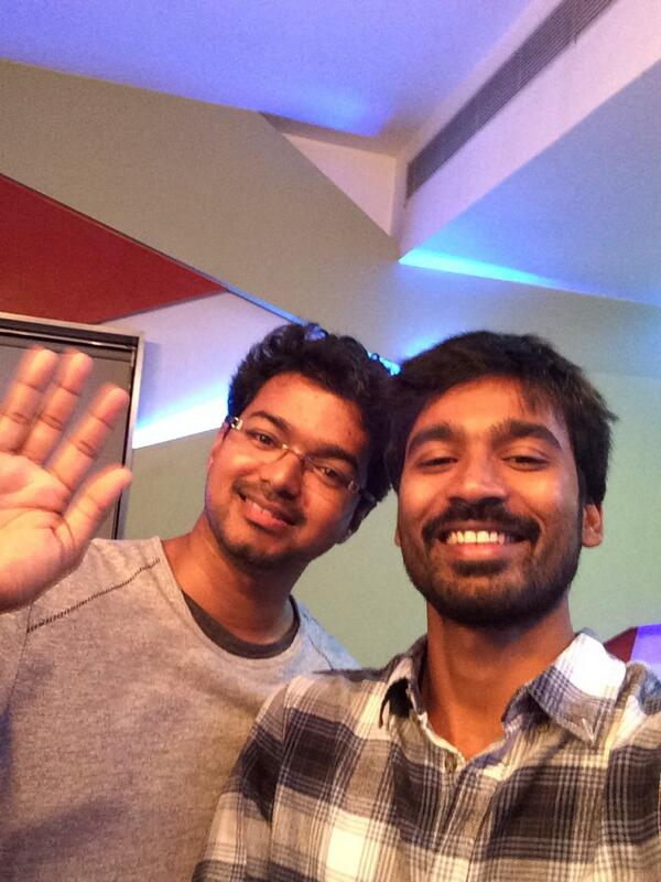 Vijay and Dhanush had blast.. dance.. fun time together!