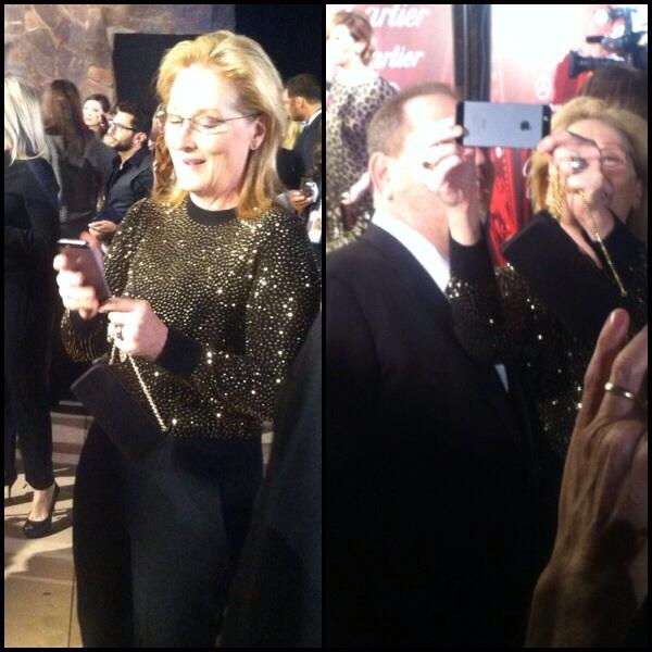 Seeing Meryl Streep prepping to take a selfie is definitely one of the best moments of the night #psiff14 http://t.co/NNKV4aNCD8