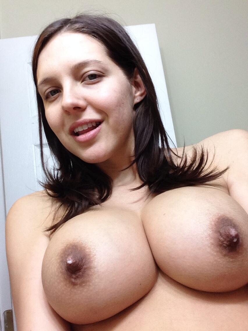 Big lactating nipples