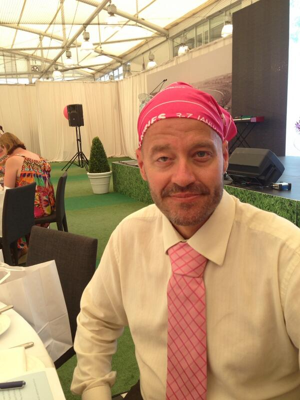 All pinked up and ready to go at the McGrath Foundation High Tea at the #scg #ashes #PinkTest http://t.co/gpwhaiX2wn