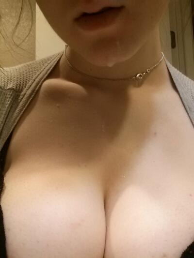 Naked girl squeezing boobs gif