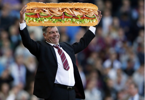 The bus? Big Sam Allardyce parked The Sub at Chelsea last night