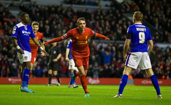 Iago Aspas scores 1st goal for Liverpool v Oldham [video]