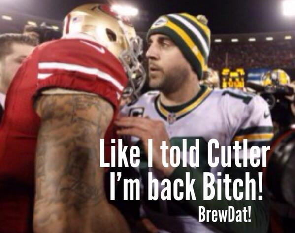 I'm back and even better. #waitandsee #Packers #BrewDat #rodgers #playoffs #arcticbowl http://t.co/fi7StqMBJH