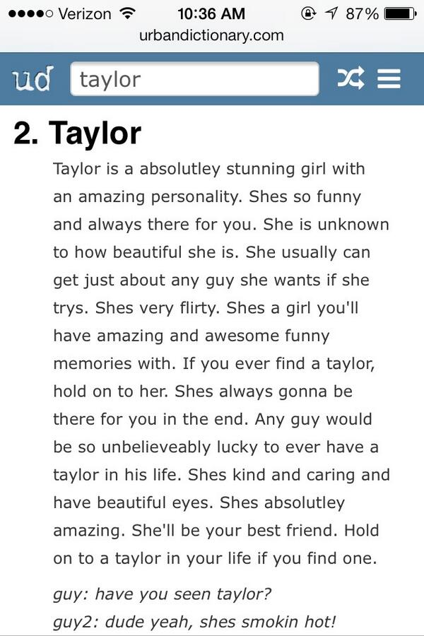 taylor wetta on twitter go search your name in urban dictionary