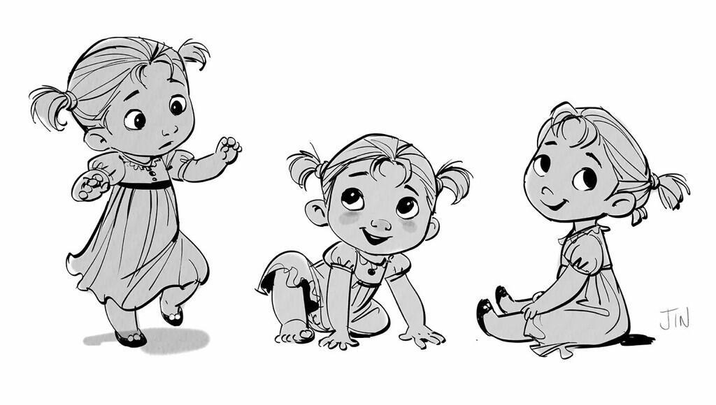 Walt Disney Frozen On Twitter Quot Toddler Anna Concept Art