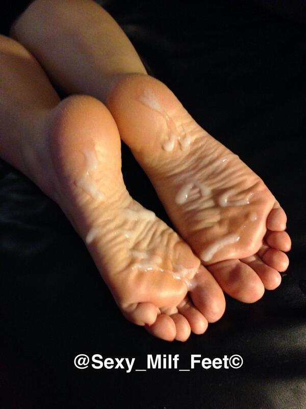 Cum for milf feet