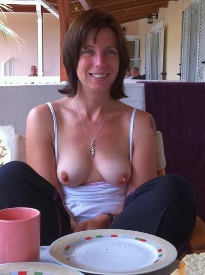 Nipples public This woman