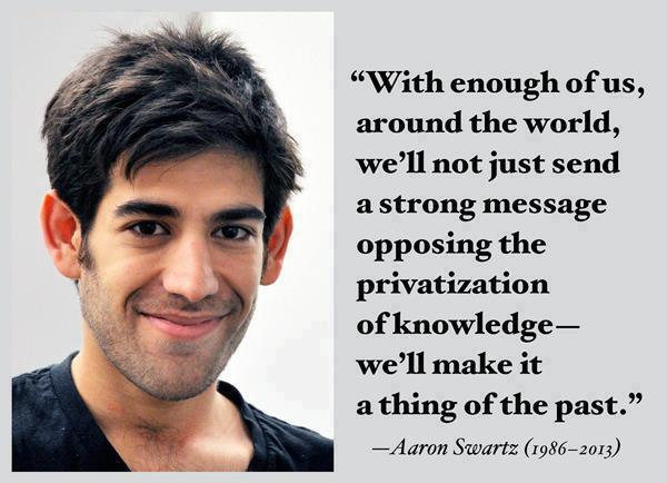 Aaron Swartz on Knowledge Privatization http://t.co/Zk1aqRe9p2 http://t.co/Hht2CCqrYv