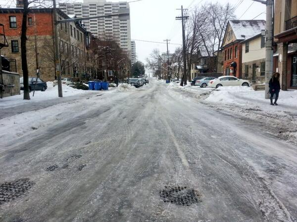 Icy winter streets