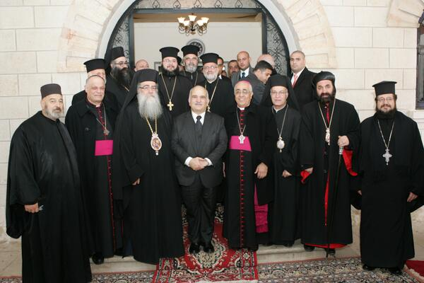 HRH Prince El Hassan bin Talal at the Roman Orthodox Church in Sweifieh, #Amman http://t.co/e6CSqImB5i