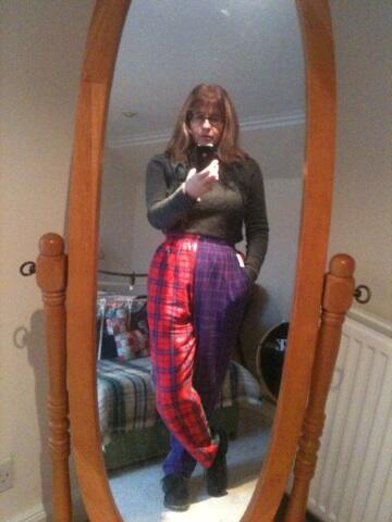 pedlars hotchpotch tartan trousers
